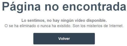 Vimeo no acepta videos comerciales